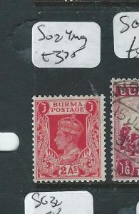 BURMA (P0308B1) ON INDIA KGVI  2A  SG 24  MOG