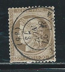 France 62 1870-73 30c Ceres single Used (z1)