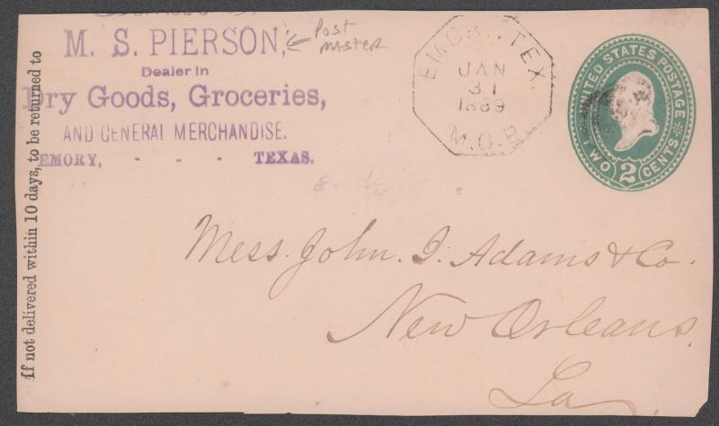 TEXAS RAINES CTY (1889 Emory)(Front Only As Is) (701)