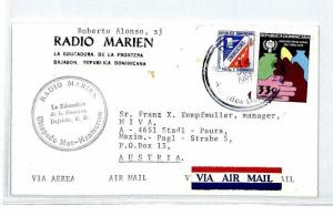 DOMINICAN REP *Dajabon Radio Marien* Air Mail MIVA Missionary Cover 1981 CM163