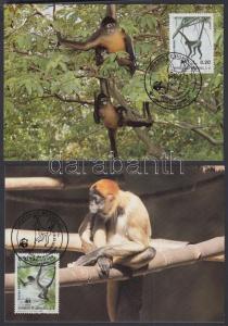 Honduras stamp WWF monkey set on 4 CM Cover 1990 Mi 1084-1087 WS145855