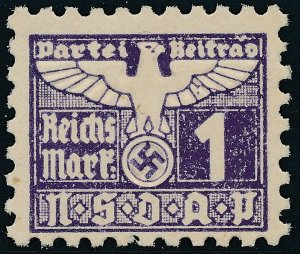 Stamp Germany Revenue Parteitag WWII 1935 3rd Reich War Era Party Due 001 MNG