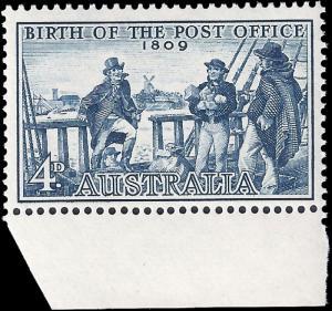 Australia 1959 Sc 332 MLH Founding of the Postal System