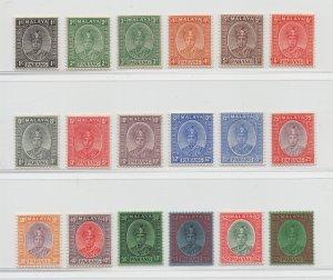 Malaya Pahang - 1950 - SG 29-46 - MH