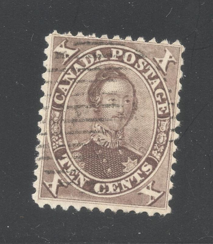 Canada #17b Brown - Grid Cancel
