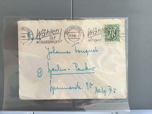 Germany 1946 Allied Military Post Hamburg  stamp cover R29281