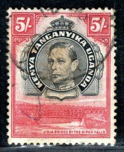 KUT KGVI Stamp 5s *Jinja Bridge* High Value CDS Used PBLUE21