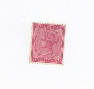 NATAL # 51 VF-MHH QUEEN VICTORIA 1p CAT VALUE $55+