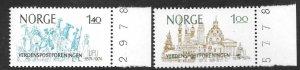 Norway 643-44  1984 set  2   VF NH
