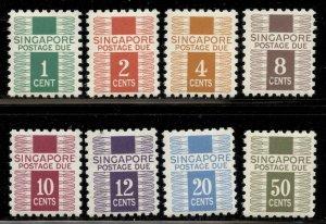 Singapore 1968 Postage Due set Sc# J1-8 NH