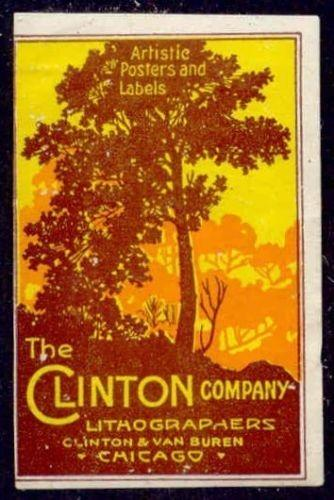 The Clinton Company - Lithographers Advertising Poster Stamp