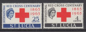 St Lucia 180-181 Red Cross MNH VF
