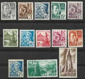 Germany-Baden  # 5N1-13 Definitives     (13)  Unused