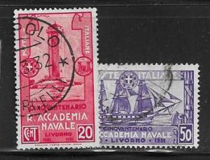 Italy 265 - 266 used 2017 SCV $3.60  - 12228