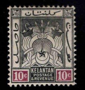 MALAYA Kelantan Scott 6  MH* wmk 3 perf tips toned at top