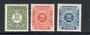 1926 Denmark, Denmark, 75° Anniv. First Stamps Danish - 3 Val N° 165