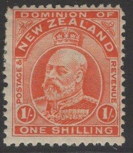 NEW ZEALAND SG394 1910 1/= VERMILION p14x14½ MTD MINT
