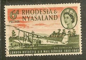 Rhodesia & Nyassaland   Scott 180   Plane   Used