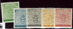 Sweden SC#479-483 Mint OG F-VF....Bid a Bargain!