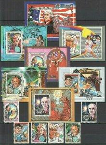 J1426 1988 GUINEA GREATEST PEOPLE CELEBRITIES !!! MICHEL 85 EURO 7BL+1SET FIX