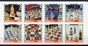 Eynhallow Holy Island 1978 Chess Pieces Sheetlet of 8 IMPERFORATED MNH