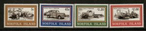 NORFOLK ISLAND SG596/9 1995 SECOND WORLD WAR VEHICLES MNH