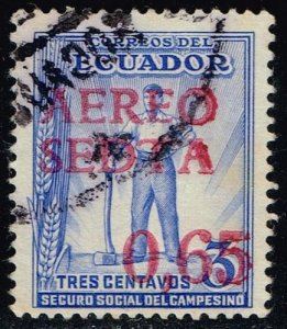 Ecuador #C64 Worker - Surcharged; Used (0.25)
