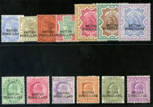Somaliland 1903 KEVII Overprint set complete MLH. SG 18-30.