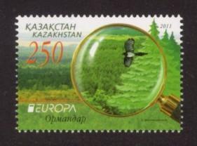 Kazakhstan Sc# 639 MNH Europa 2011 / Forests