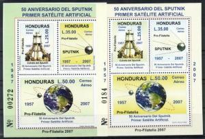 Honduras stamp 50th anniversary of the space travel 2 blocks WS42827