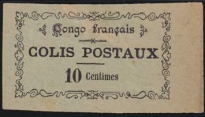 French Congo Colis Postaux 1 Mint