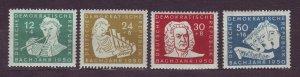 J23271 JLstamps 1950 germany DDR mnh set #b17-20 music bach