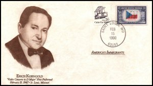 US America's Immigrants Erich Korngold 1990 Cover