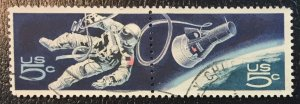 US #1331, 1332 Used VF (Connected Pair) - NASA Gemini Program