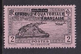 French Equatorial Africa   #2   MNH  1936   overprint  Gabon 2c