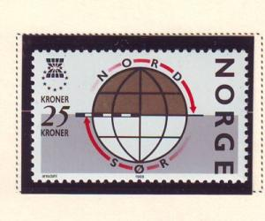 Norway Sc 924 1988 North South Solidarity stamp mint NH