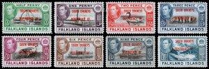 Falkland Islands - South Orkneys Scott 4L1-4L8 (1944) Mint LH VF Complete Set M