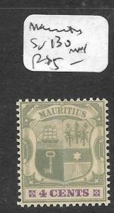 MAURITIUS  (PP1010B) 4C  SG 130  MNH