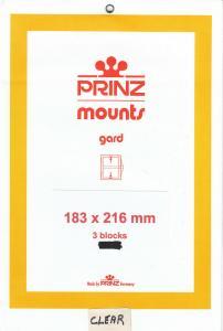 PRINZ CLEAR MOUNTS 183X216 (3) RETAIL PRICE $10.50