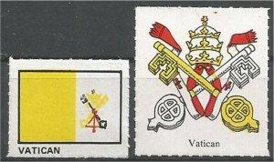 VATICAN. mint, Flag and Coat of Arms (no gum)