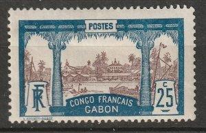 Gabon 1910 Sc 39 MH* marks on gum