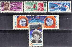 RUSSIA SC # 2748-53 **CTO**   1963  SPACE  SEE SCAN