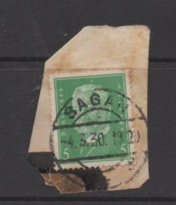 Germany  Scott # 368 used  singles on paper