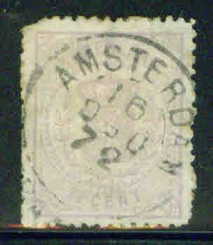 Netherlands Scott 22 2.5c Coat of Arms CV$70