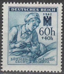 Czechoslovakia Bohemia & Moravia #B13  MNH