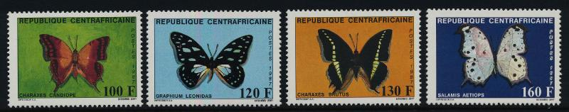 Central Africa 866-9 MNH Butterflies, Insects