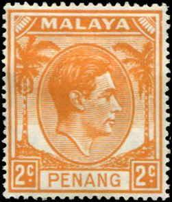 Malaya - Penang SC# 4 SG# 4 George VI 2c MH