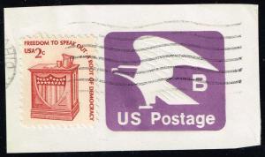 US #U592 Eagle; Used Cut Square (0.25)