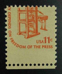 MOMEN: US STAMPS #11c VAR. MISPERF MINT OG NH LOT #52981