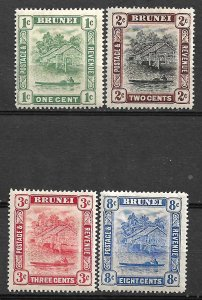COLLECTION LOT #450 BRUNEI 4 STAMPS MH 1907+ CV+ $21